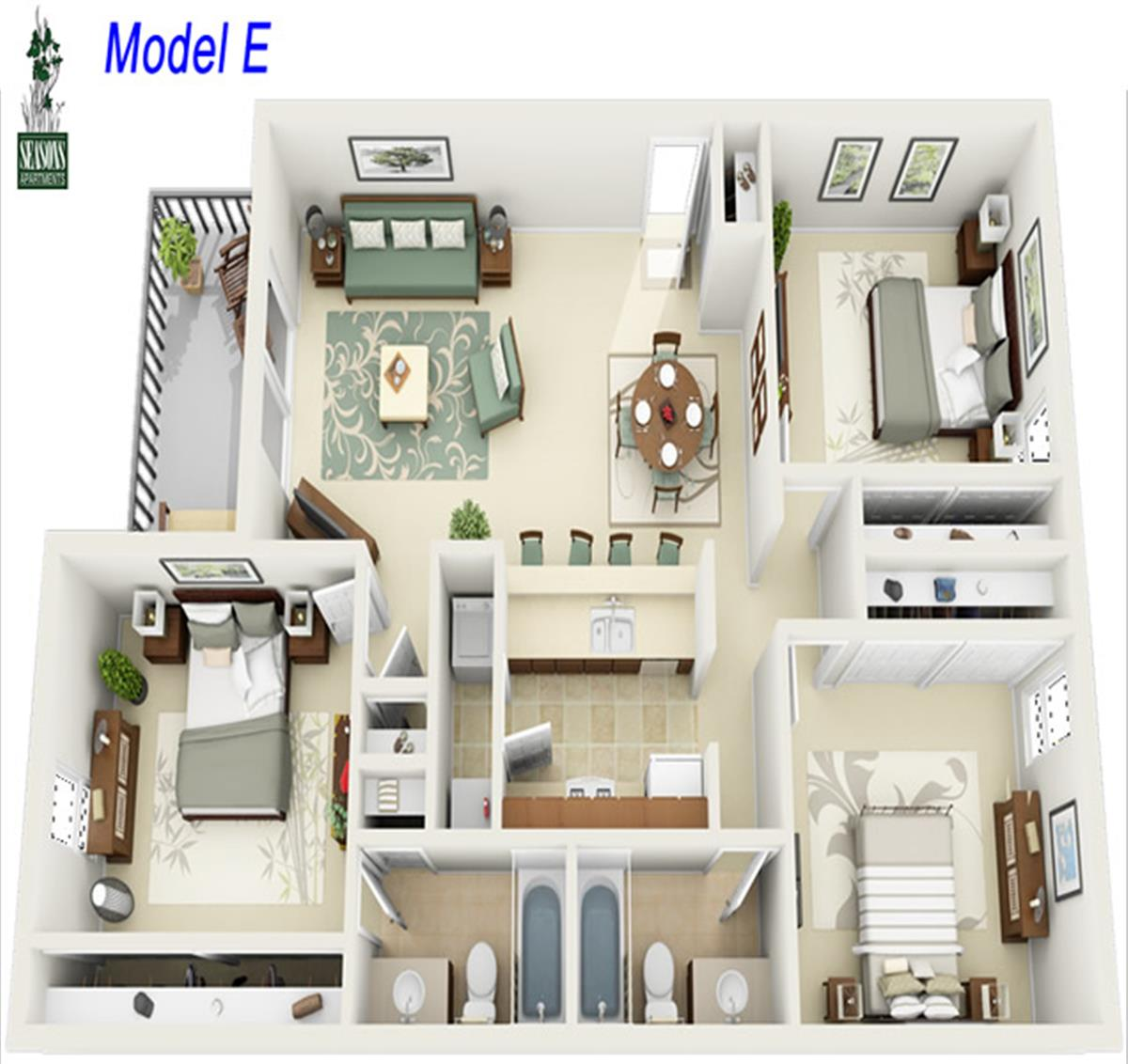 Seasons Apartments: Apartment In Shreveport, LA